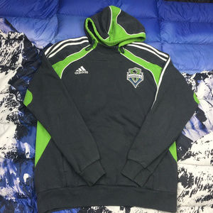 Adidas Seattle Sounders Gray Green Hoodie Size L